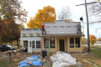 """Construction on the general store and Doris-Lee Sweet Shop began two years ago with the """"Thursday Guys"""" doing all the work."""