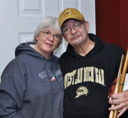 Kathy and Bob Smith, long-time WMU football season ticket holders from Vicksburg. Photos by Kim Marsden.