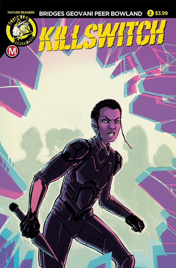 Killswitch Front cover by Action Lab Comics, Soda and Telepaths