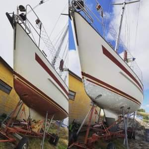 blästra bottenfärg båtbotten blekinge skåne