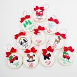 Cross Stitch Ornaments Personalized For Christmas