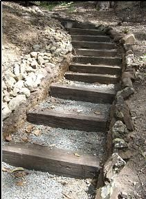 recycled garden steps