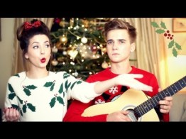blogmas 2015, day 14, overly festive, ugly christmas jumpers, red and green, zoella and thatcherjoe, the suggs, holly, mistletoe, tumblr, pinterest
