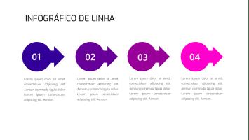 Infográfico De Seta Grátis Para PowerPoint