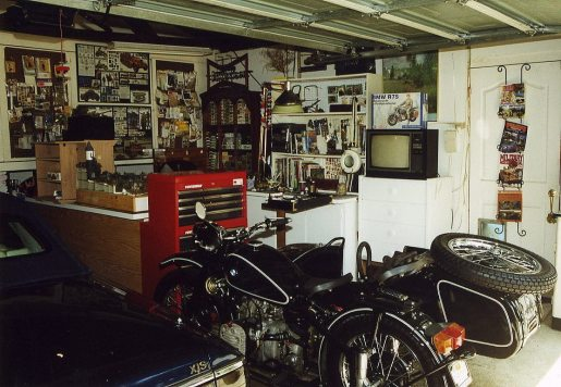 Workshop had to make room for my motorbike and Jaguar