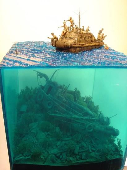 The diorama in the plex case