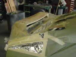 Custom Callaway Wing being fiberglassed