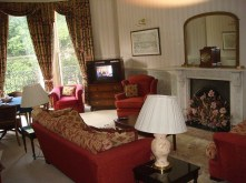 The sitting room in the Clifton's only suite.