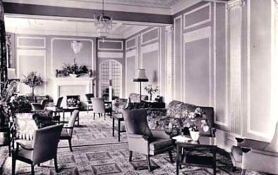The lounge in the 1930's. Now the Ocean Bleu bar
