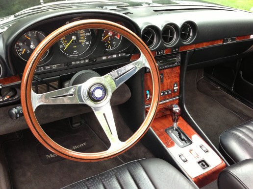I added the Mercedes wood shifter knob