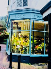 Off to dinner on The Bayle. Folkestone's oldest flower shop. Over a century old