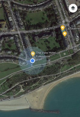 Spot on the Google Map favourite