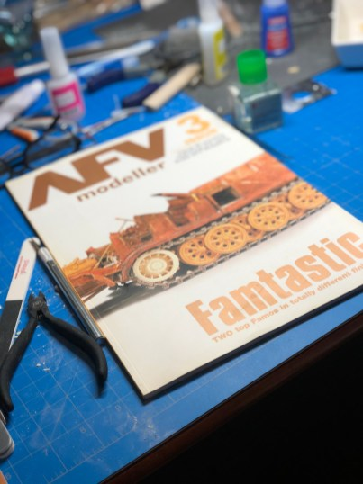 AFC Modeller, Issue 3. My first published article in a magazine.