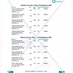 Rail schedule '03