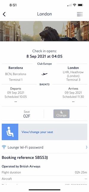 BA Flights & Return