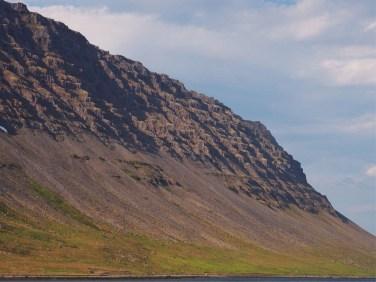 Craggy mountain at Dynjandi