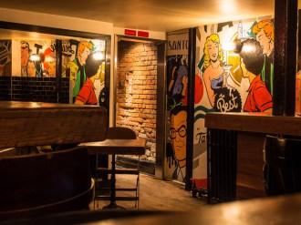 Wall art in Santos Bar - Montreal