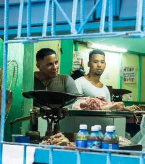 Shopping in Cuba does not resemble anything you know. Both hole-in-the-wall and larger shops sell odd collections of things seemingly assembled at random. I never saw refrigerated meat - meat seems to be sold either on the day it is slaughtered (like here) or in frozen form.