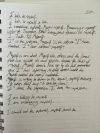 """Gallant's diary entry in relation to """"Talking In My Sleep""""..."""