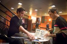 Jamie Hince signing Merch.