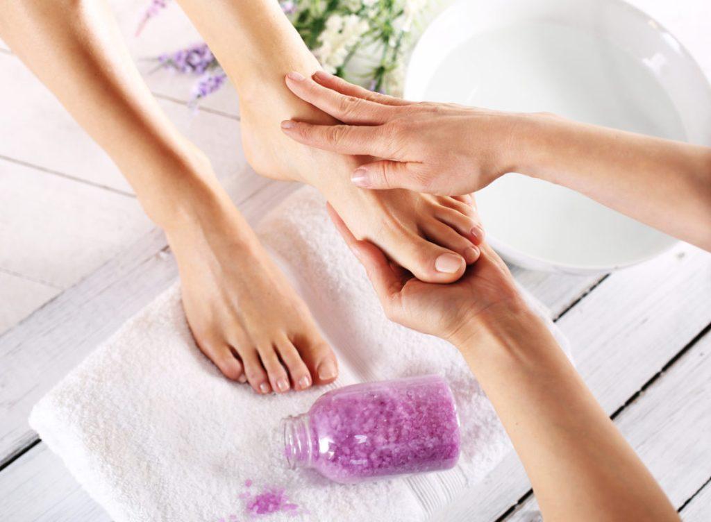peeling af fødder
