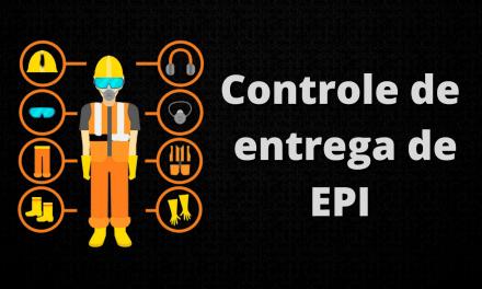 Planilha para controle de entrega de EPI