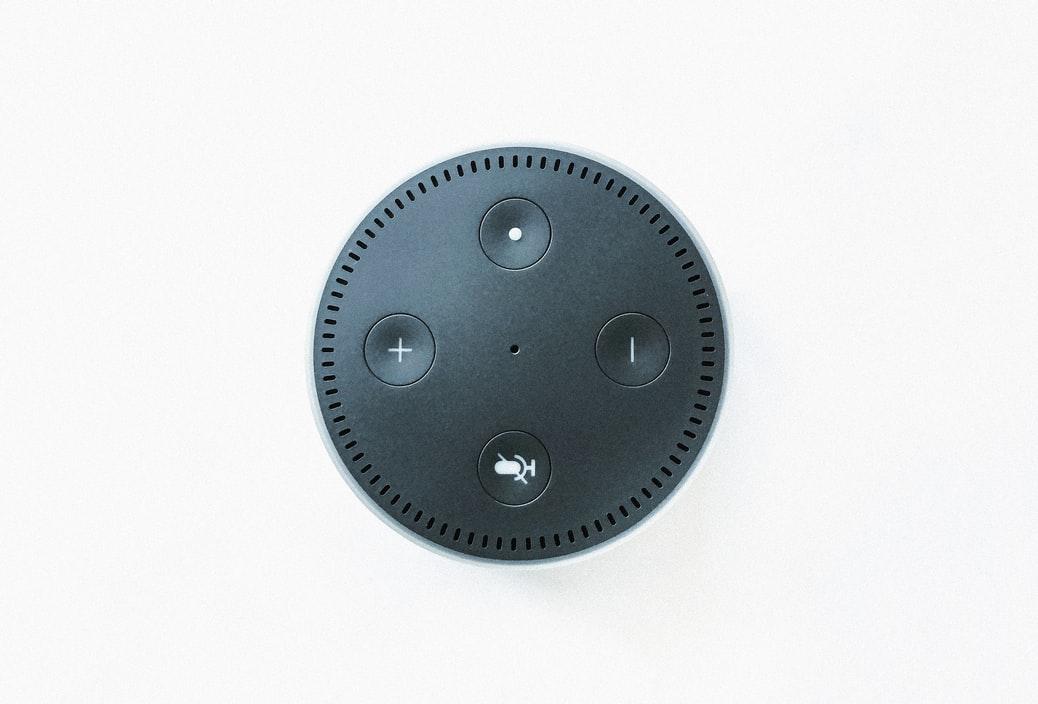 Amazon Echo Dot top view