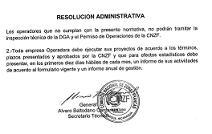 Administrative resolution