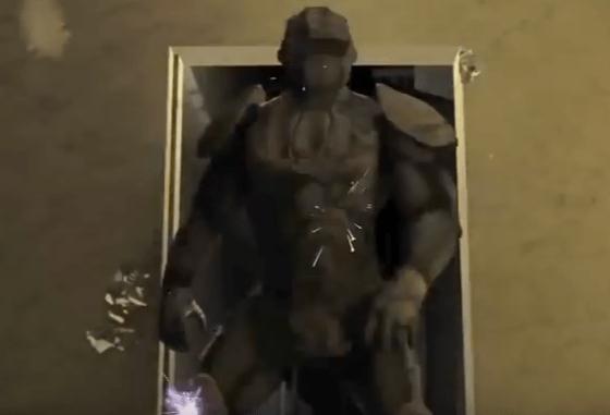 TALOS Iron Man Suit - Tactical Assault Light Operator Suit (image from RDECOM video, 28 May 2015).
