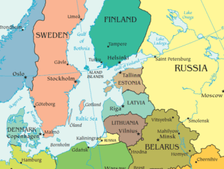 Map of Baltic States