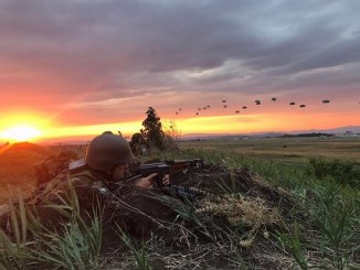 Paratroopers Descending in Bulgaria. The 173rd Airborne Brigade trained with allies and partners during Operation Swift Response. (Photo by 173rd Airborne Brigade, July 18, 2017).