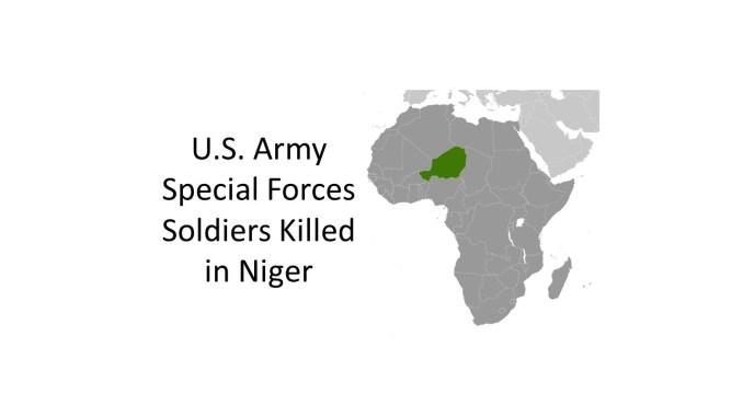 Three Green Berets killed in Niger