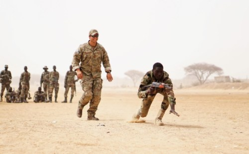 U.S. SOF Training Nigerien Troops during Flintlock Exercise in March, 2017 (Photo by SPC Zayid Ballesteros, U.S. Army)