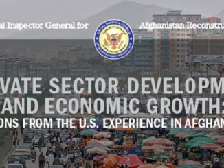 SIGAR Report on Sector Development April 2018