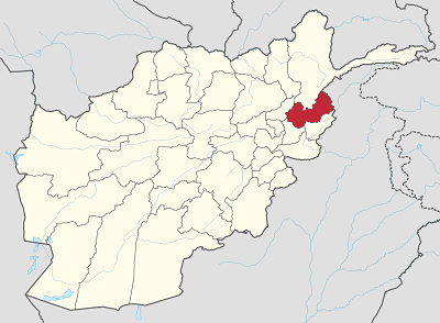 Map of Nuristan province, Afghanistan