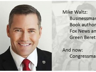 Congressman Mike Waltz - a Green Beret has been elected to Congress from the state of Florida