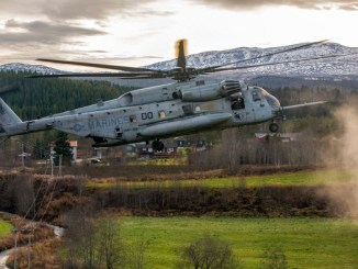 Marine helicopter in Trident Juncture 2018 - November, 2018 Defense Media