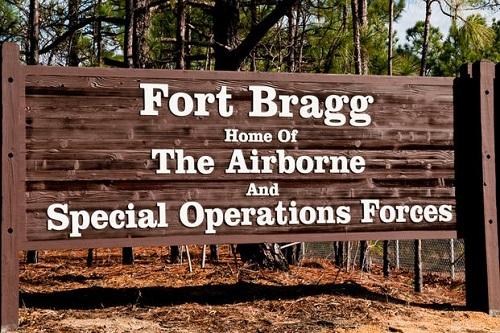 Fort Bragg Sign