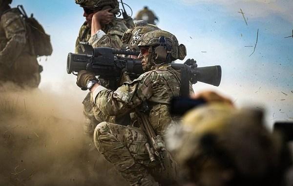 2 Bn 75th Rangers fire a Carl Gustav