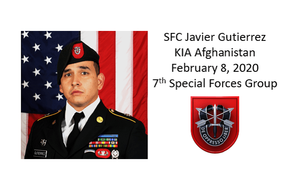 SFC Javier Gutierrez, 7th Special Forces Group, KIA Afghanistan, Feb 8, 2020