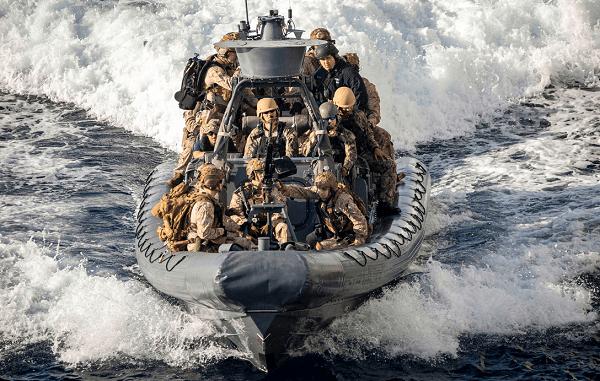 Marines RHIB VBSS Drill Red Sea 20200113