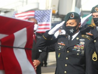 Green Berets, assigned to 5th Special Forces Group (Airborne), conduct a dignified transfer for the final flight of Medal of Honor recipient, Command Sgt. Maj. (Retired) Bennie G. Adkins, to his resting place at Arlington National Cemetery, 14 Dec. Adkins, died due to complications with COVID-19 in April.