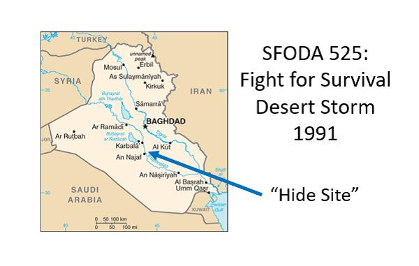 Map ODA 525 Desert Storm