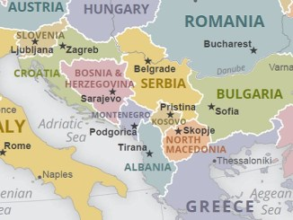 Map of Western Balkans CIA