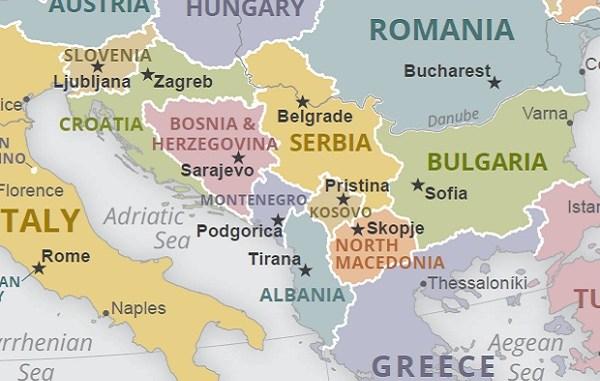 Map of Western Balkans CIA