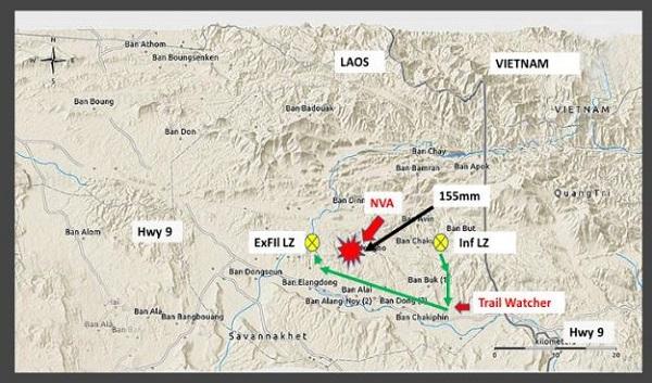 Mission Map for Spike Team Tiger MACV-SOG