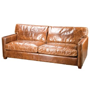 vintage-brown-small-leather-couch-for-small-space