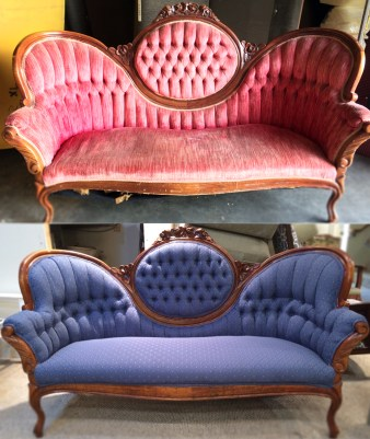 Before and After Early Century Sofa