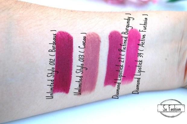 swatch lipstick