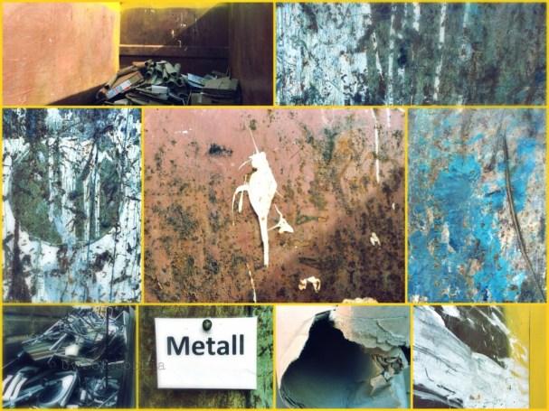 Collage aus Rost- und Klecksbildern